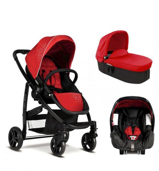 GRACO Комбинирана количка 3 в 1 EVO TRIO Chilli Red червен